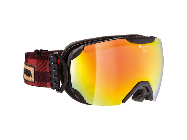 Alpina Pheos S QMM SPH Goggle S2 red spherical/black matt-red